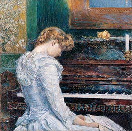 The Sonata, 1893 by Hassam | Painting Reproduction