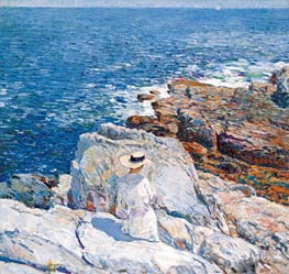 The South Ledges, Appledore, 1913 by Hassam | Painting Reproduction
