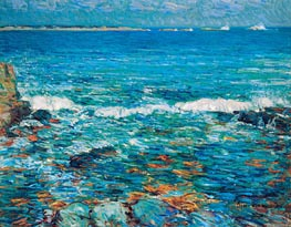 Duck Island from Appledore, 1911 by Hassam | Painting Reproduction