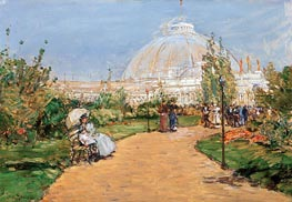 Horticulture Building, World's Columbian Exposition, Chicago, 1983 by Hassam | Painting Reproduction