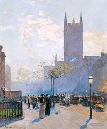 Lower Fifth Avenue, 1890 by Hassam | Painting Reproduction