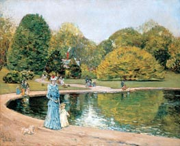 Central Park, 1892 by Hassam | Painting Reproduction