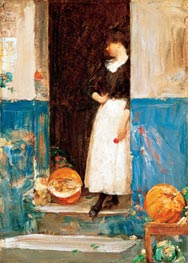 La Fruitiere, c.1888/89 by Hassam | Painting Reproduction