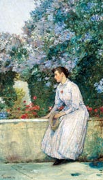 In the Garden, c.1888/89 by Hassam | Painting Reproduction