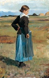 French Peasant Girl, c.1883 by Hassam | Painting Reproduction