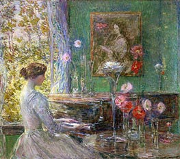 Improvisation, 1899 by Hassam | Painting Reproduction