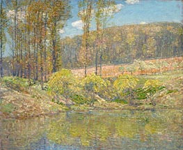 Spring, Navesink Highlands, 1908 by Hassam | Painting Reproduction
