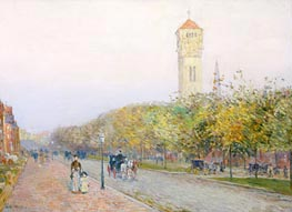 Commonwealth Avenue, Boston, c.1892 by Hassam | Painting Reproduction