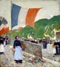 Montmartre: July 14, 1889 by Hassam | Painting Reproduction