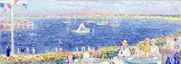 Afternoon, Devon Yacht Club, 1930 by Hassam | Painting Reproduction