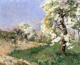 Pear Blossoms, Villiers-de-Bel, undated by Hassam | Painting Reproduction