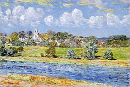 Landscape at Newfields, New Hampshire | Hassam | Painting Reproduction