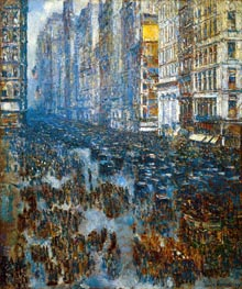 Fifth Avenue | Hassam | Painting Reproduction