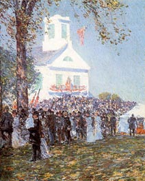 County Fair, New England, 1890 by Hassam | Painting Reproduction