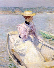 The White Dory, Gloucester, 1895 by Hassam | Painting Reproduction