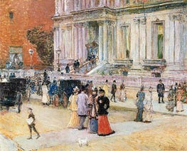 The Manhattan Club, c.1891 by Hassam | Painting Reproduction