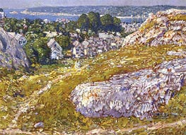 Norman's Woe, Gloucester, Massachusetts, 1918 by Hassam | Painting Reproduction