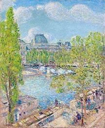 April, Quai Voltaire, Paris, 1897 by Hassam | Painting Reproduction