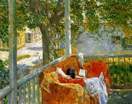 Couch on the Porch, Cos Cob, Undated by Hassam | Painting Reproduction