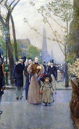 Fifth Avenue aka Sunday on Fifth Avenue, Undated by Hassam | Painting Reproduction