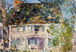 The Brush House, 1916 by Hassam | Painting Reproduction