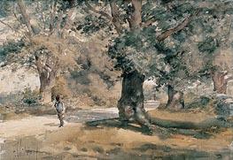 Country Road (Wayside Inn, Sudbury, Massachusetts), 1882 by Hassam | Painting Reproduction