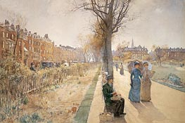 The Public Garden (Boston Common), c.1885 by Hassam | Painting Reproduction