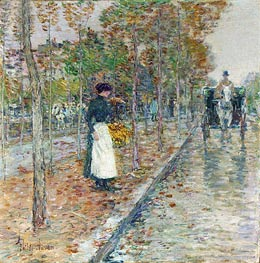 Autumn Boulevard | Hassam | outdated