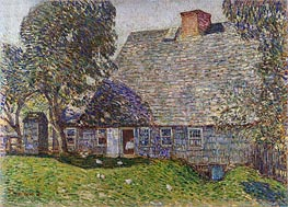 The Old Mulford House, East Hampton | Hassam | outdated