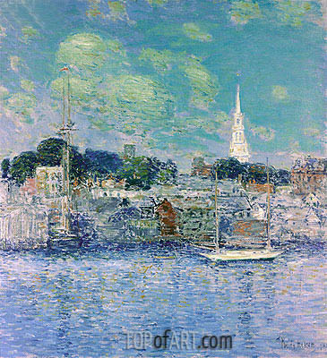 Newport Waterfront, 1901 | Hassam | Painting Reproduction