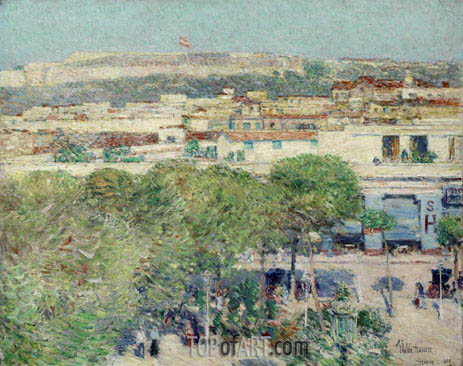 Hassam | Place Centrale and Fort Cabanas, Havana, 1895