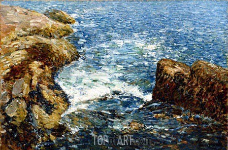 Hassam | Surf and Rocks, 1906