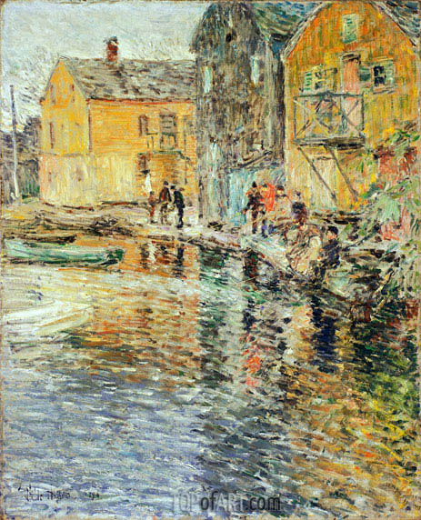The Smelt Fishers, Cos Cob, 1896 | Hassam | Gemälde Reproduktion