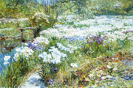 The Water Garden, 1909 | Hassam | Gemälde Reproduktion