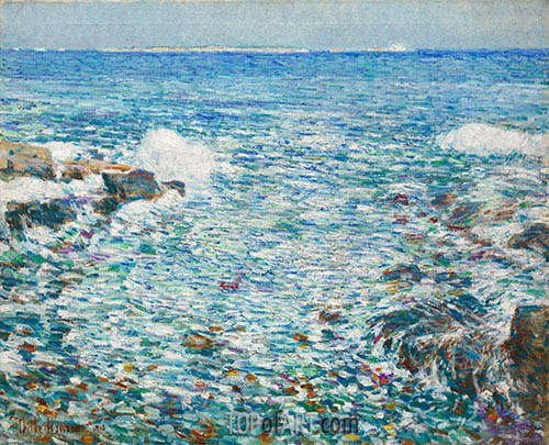 Surf, Isles of Shoals, 1913 | Hassam| Painting Reproduction
