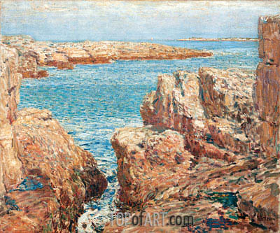 Coast Scene, Isles of Shoals, 1901 | Hassam | Gemälde Reproduktion