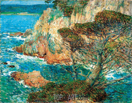 Point Lobos, Carmel, 1914 | Hassam| Gemälde Reproduktion
