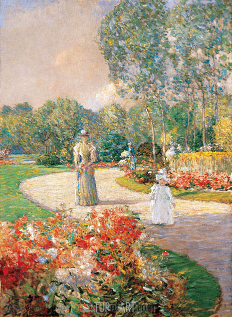 Parc Monceau, Paris, 1897 | Hassam| Painting Reproduction