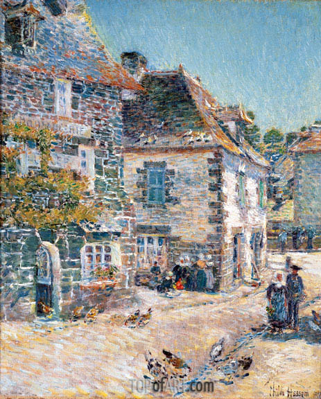 Pont-Aven, Noon Day, 1897 | Hassam| Painting Reproduction