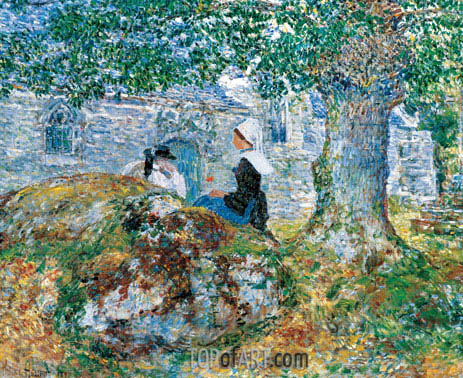 In Brittany, 1897 | Hassam| Painting Reproduction
