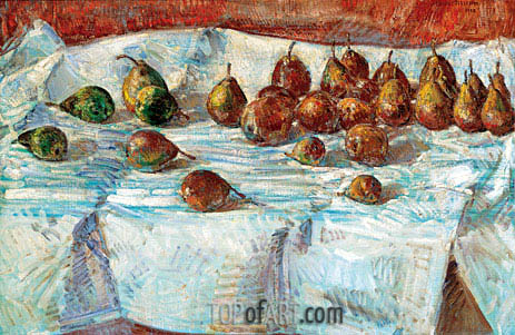 Winter Sickle Pears, 1918 | Hassam| Gemälde Reproduktion