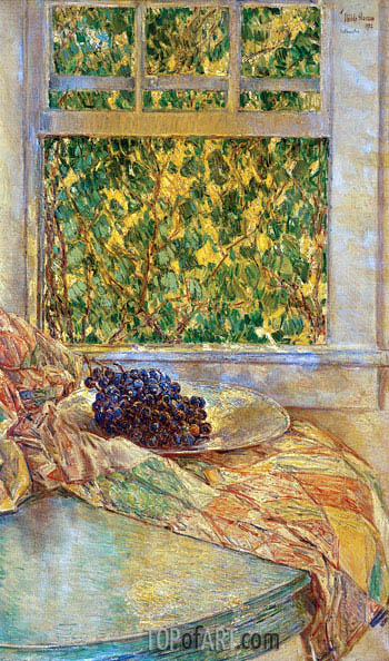 Colonial Quilt, 1922 | Hassam | Painting Reproduction