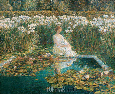 Lilies, 1910 | Hassam| Painting Reproduction
