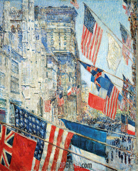 Allies Day, May 1917, 1917 | Hassam| Painting Reproduction