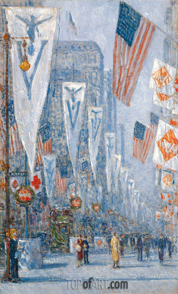 Victory Day, May 1919, 1919 | Hassam| Gemälde Reproduktion