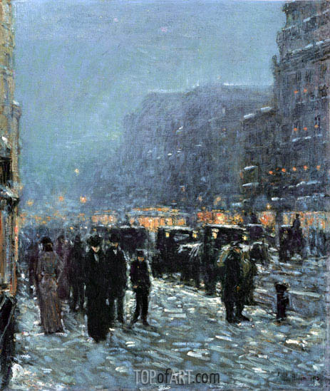 Broadway and 42nd Street, 1902 | Hassam | Painting Reproduction