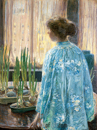 The Table Garden, 1910 | Hassam| Painting Reproduction