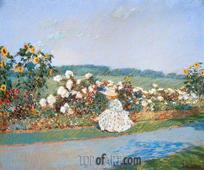 Summertime, 1891 | Hassam | Painting Reproduction
