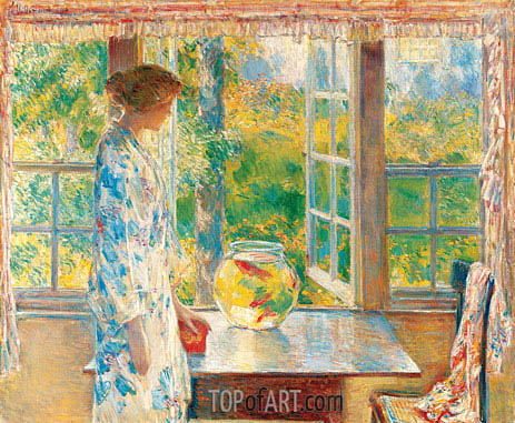Bowl of Goldfish, 1912 | Hassam | Painting Reproduction