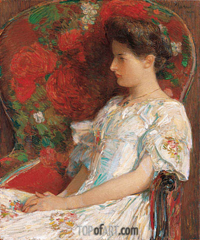 The Victorian Chair, 1906 | Hassam | Painting Reproduction